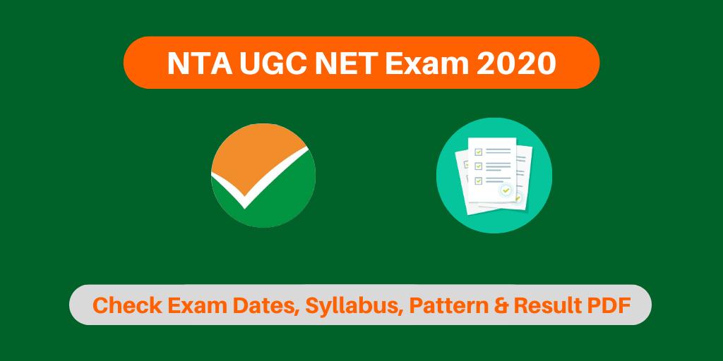NTA UGC NET Exam 2020