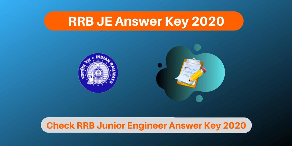RRB JE Answer Key 2020