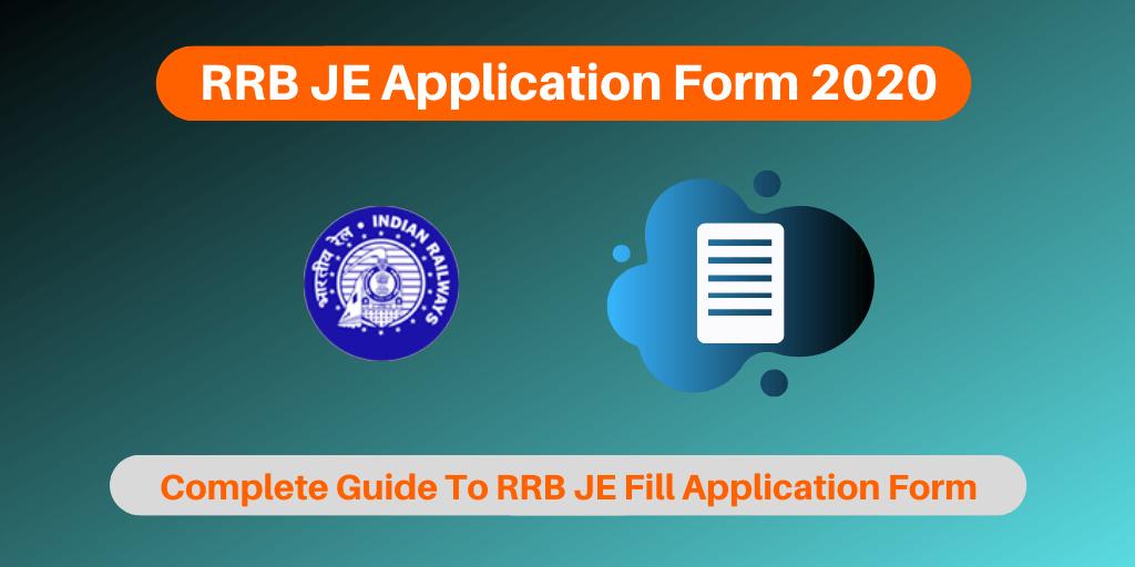 RRB JE Application Form 2020
