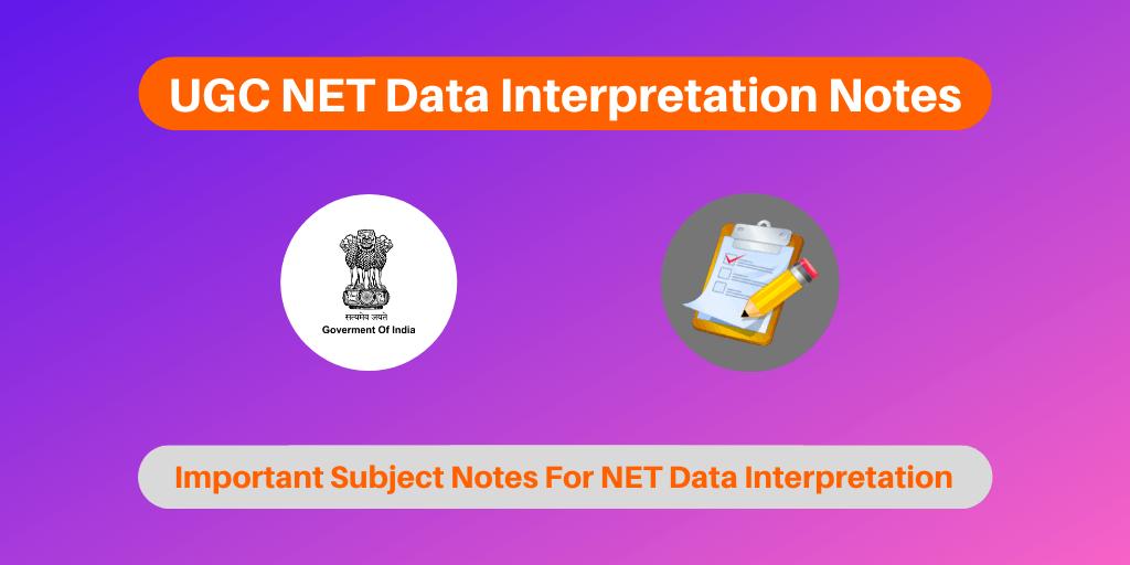 UGC NET Data InterpretationNotes