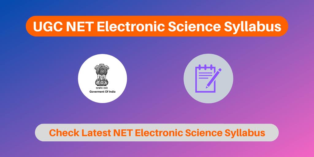 UGC NET Electronic Science Syllabus