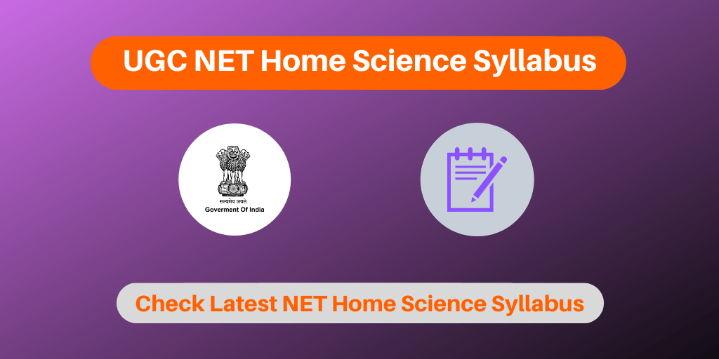 UGC NET Home Science Syllabus