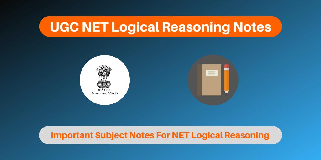 UGC NET Logical ReasoningNotes