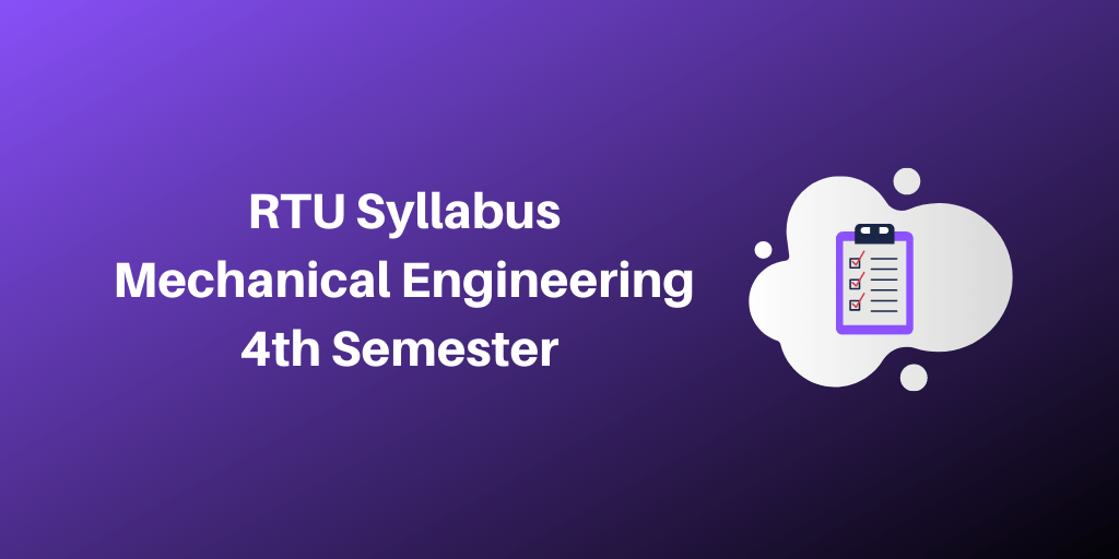 RTU Syllabus Mechanical Engineering 4th Semester