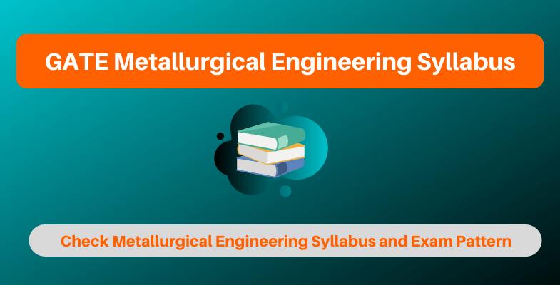 GATE Metallurgical Engineering Syllabus