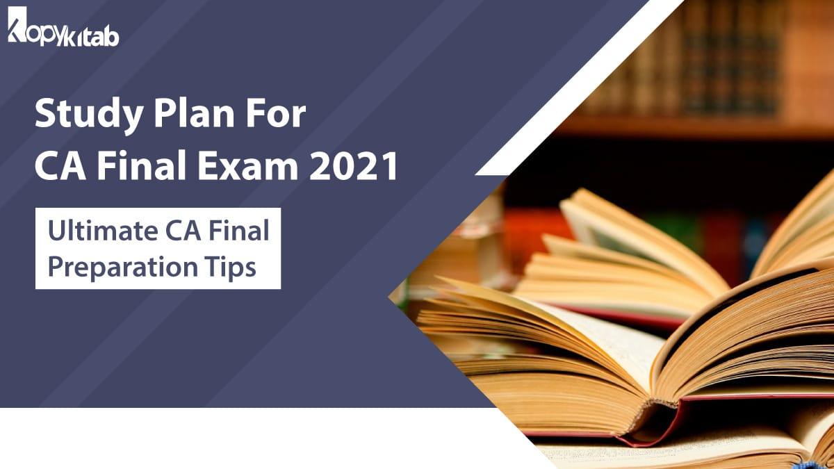 Study Plan For CA Final Exam