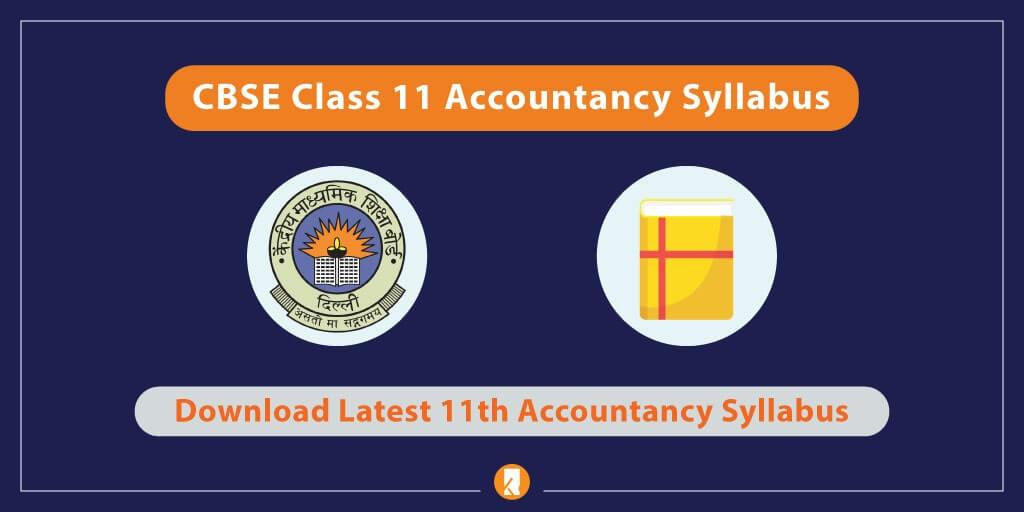 CBSE-Class-11-Accountancy-Syllabus