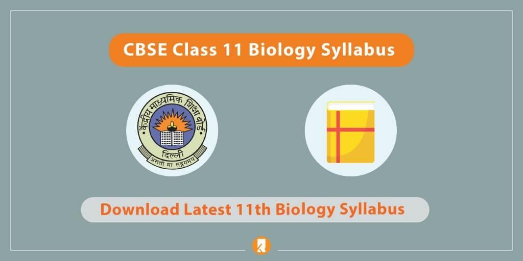 CBSE-Class-11-Biology-Syllabus