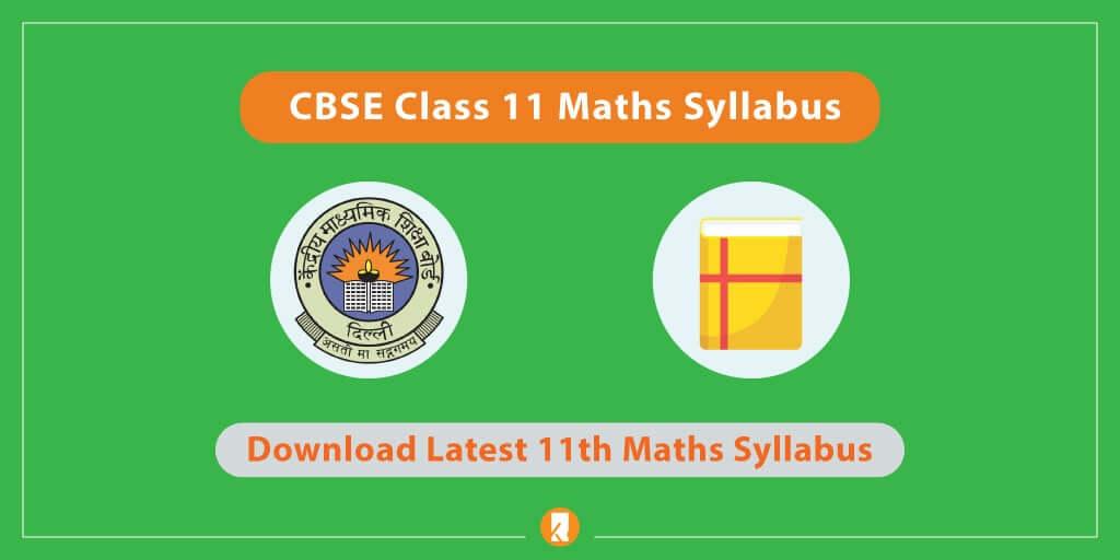 CBSE-Class-11-Maths-Syllabus