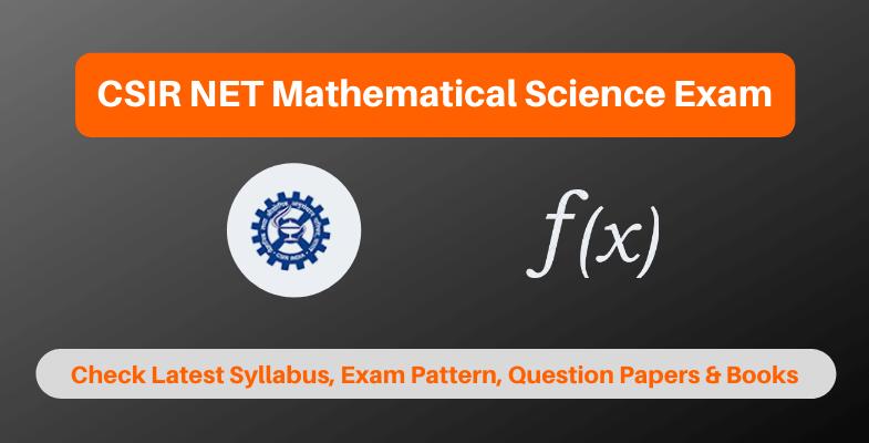 CSIR NET Mathematical Science Exam