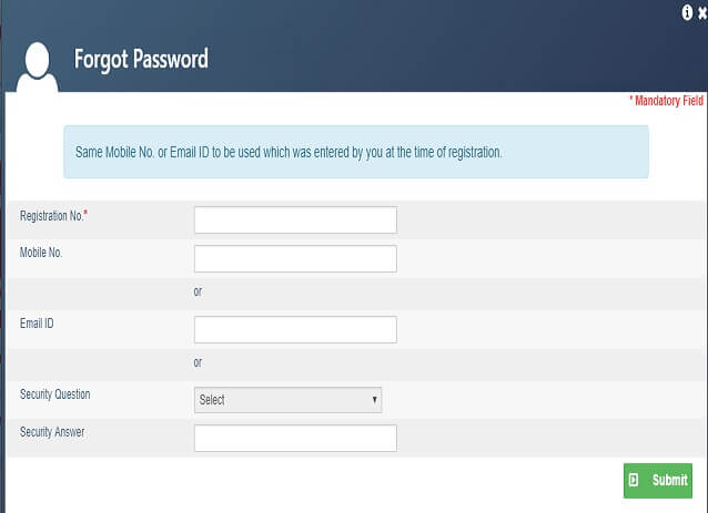 Recover password via Email