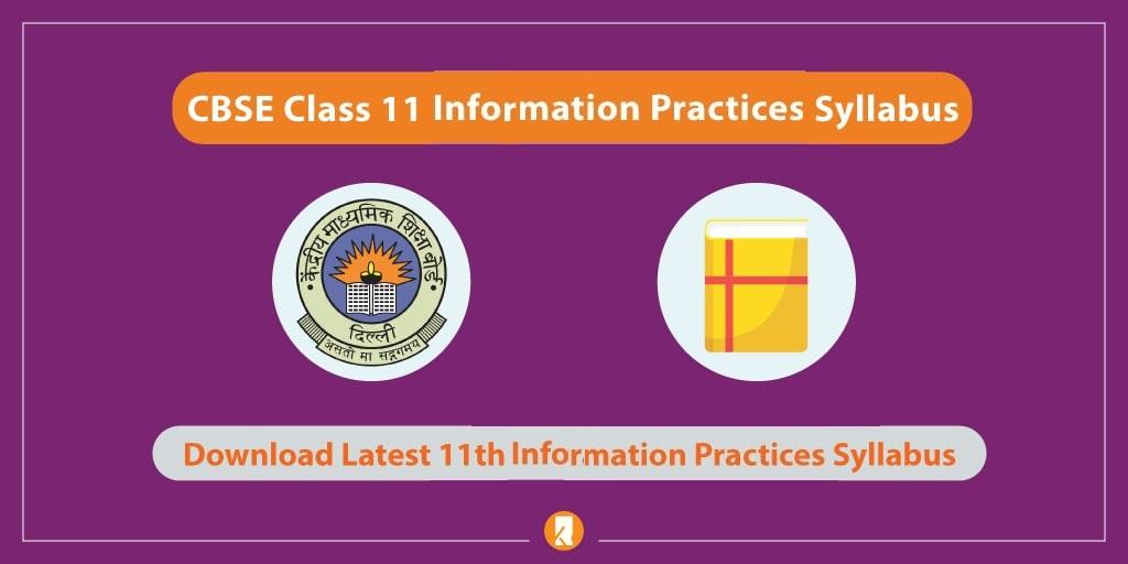 CBSE-Class-11-Information-Practices-Syllabus