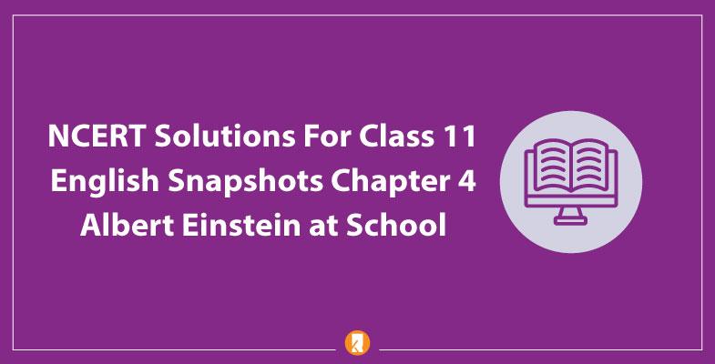 NCERT-Solutions-For-Class-11-English-Snapshots-Chapter-4-Albert-Einstein-at-School