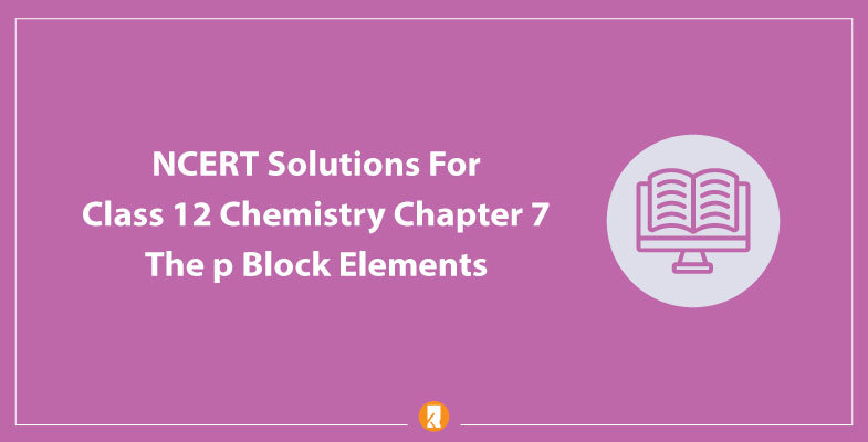 NCERT Solutions For Class 12 Chemistry Chapter 7 The p Block Elements