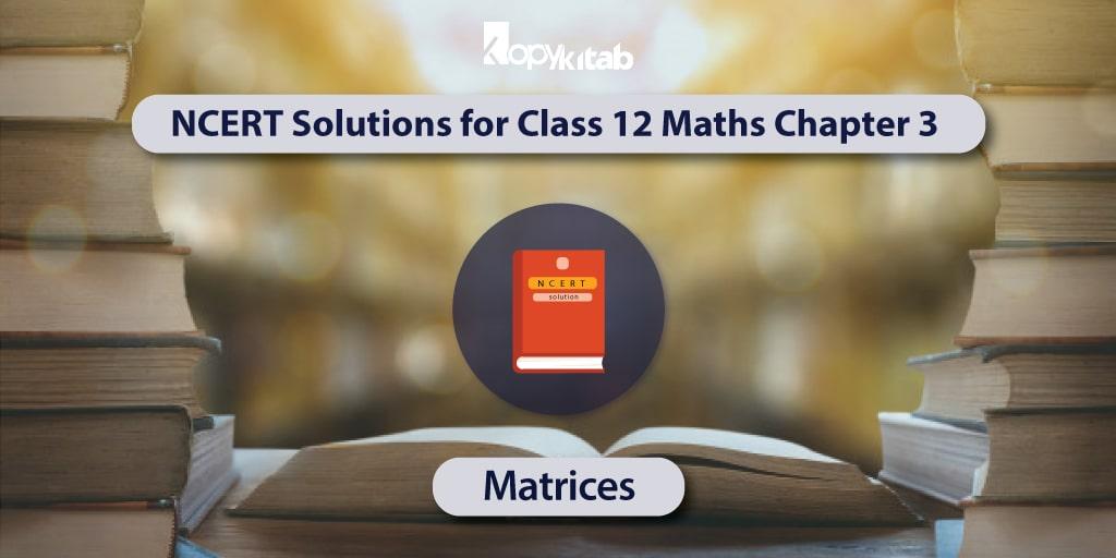 NCERT Solutions for Class 12 Maths Chapter 3
