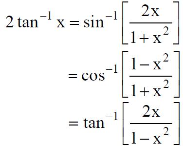 NCERT Solutions for Class 12 Maths Chapter 2 inverse formula tan