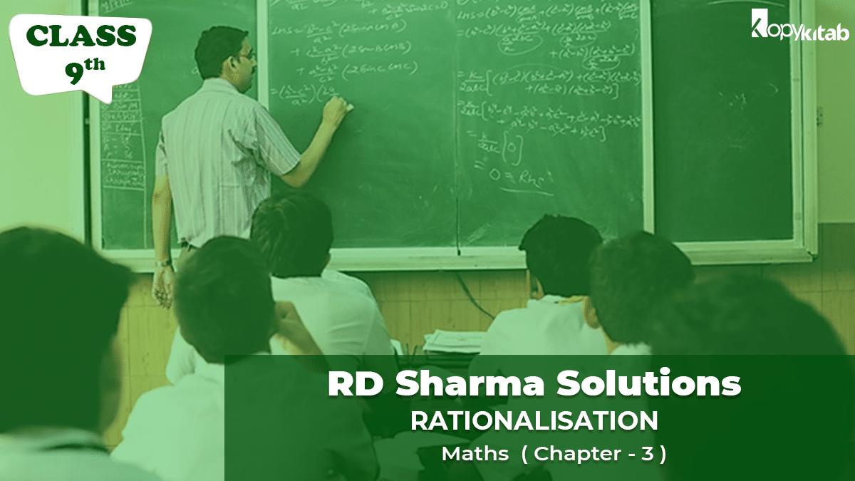 RD Sharma Solutions Class 9 Maths Chapter 3