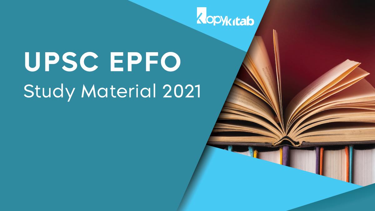 UPSC EPFO Study Material