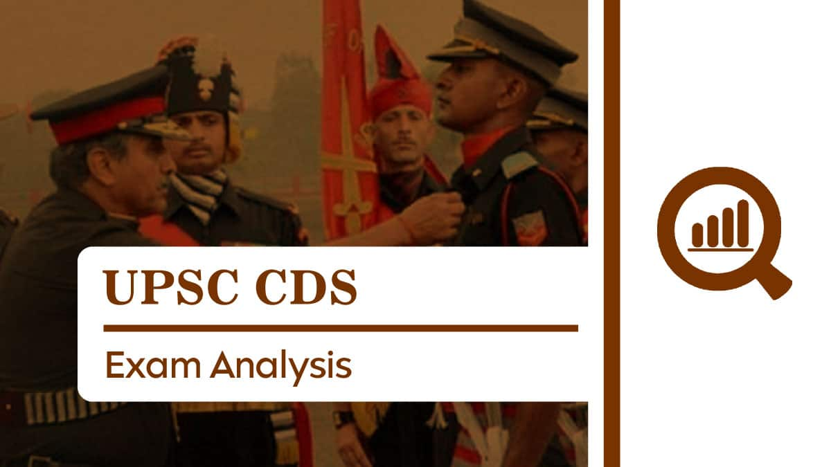 UPSC CDS Analysis