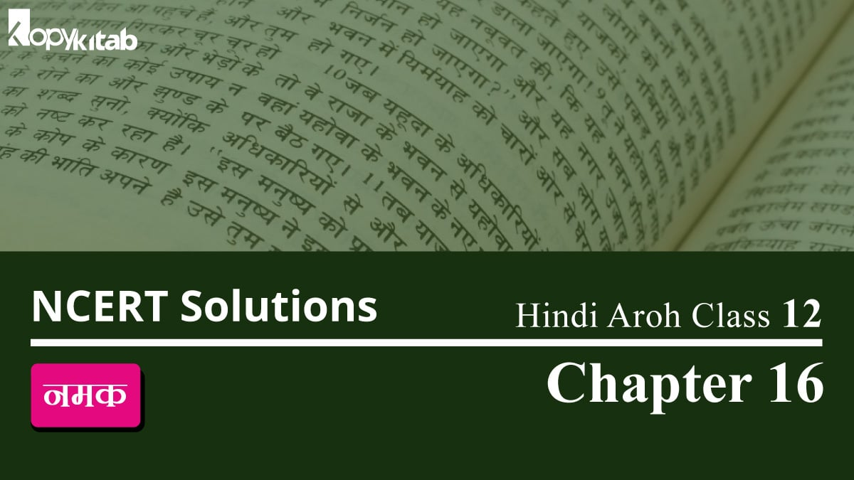 NCERT Solutions for Class 12 Hindi Aroh Chapter 16