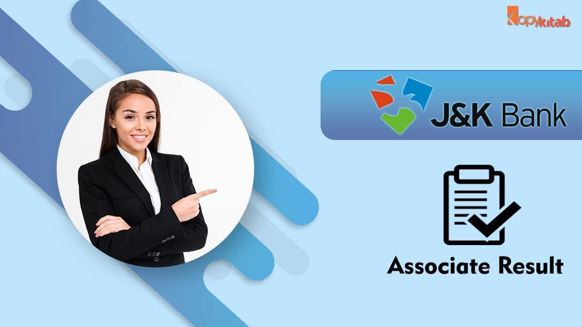 jk bank associate result