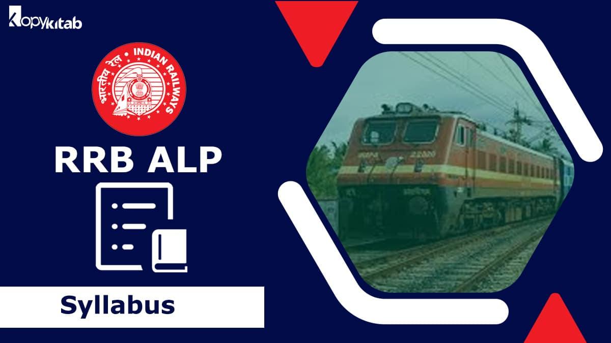 RRB ALP Syllabus 2021