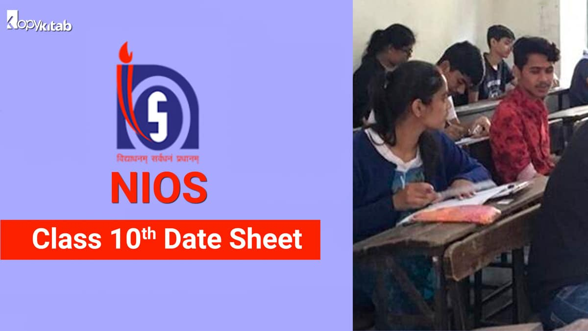 NIOS Class 10 Date Sheet