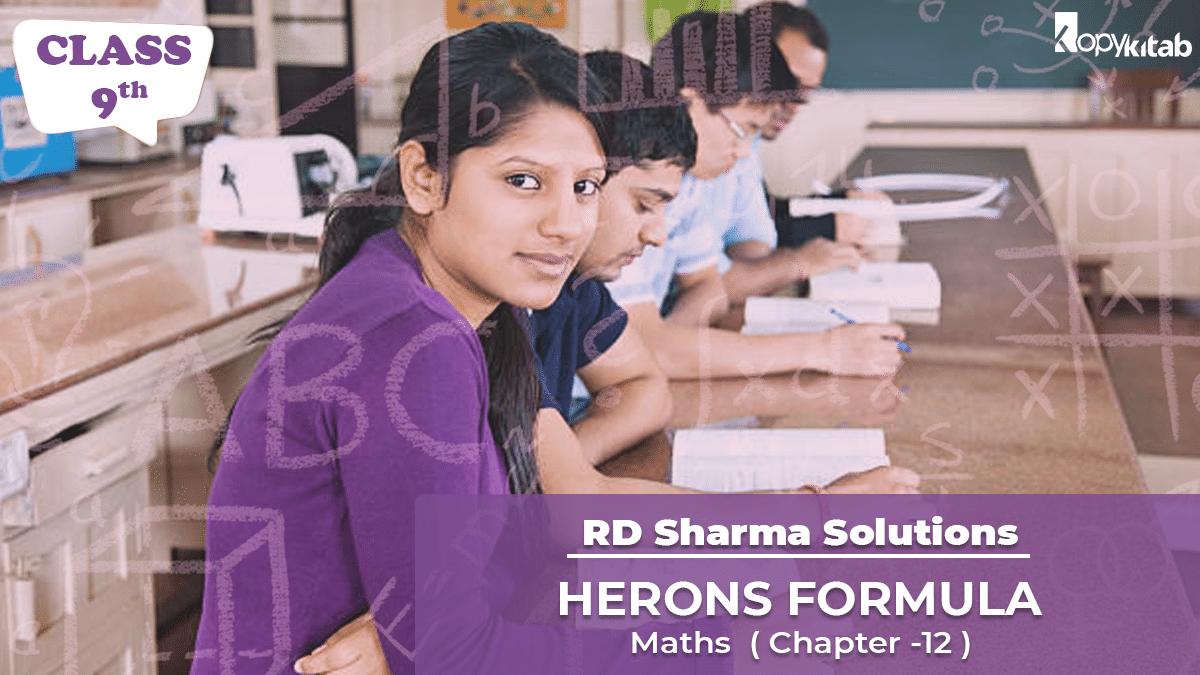 RD Sharma Solutions Class 9 Maths Chapter 12