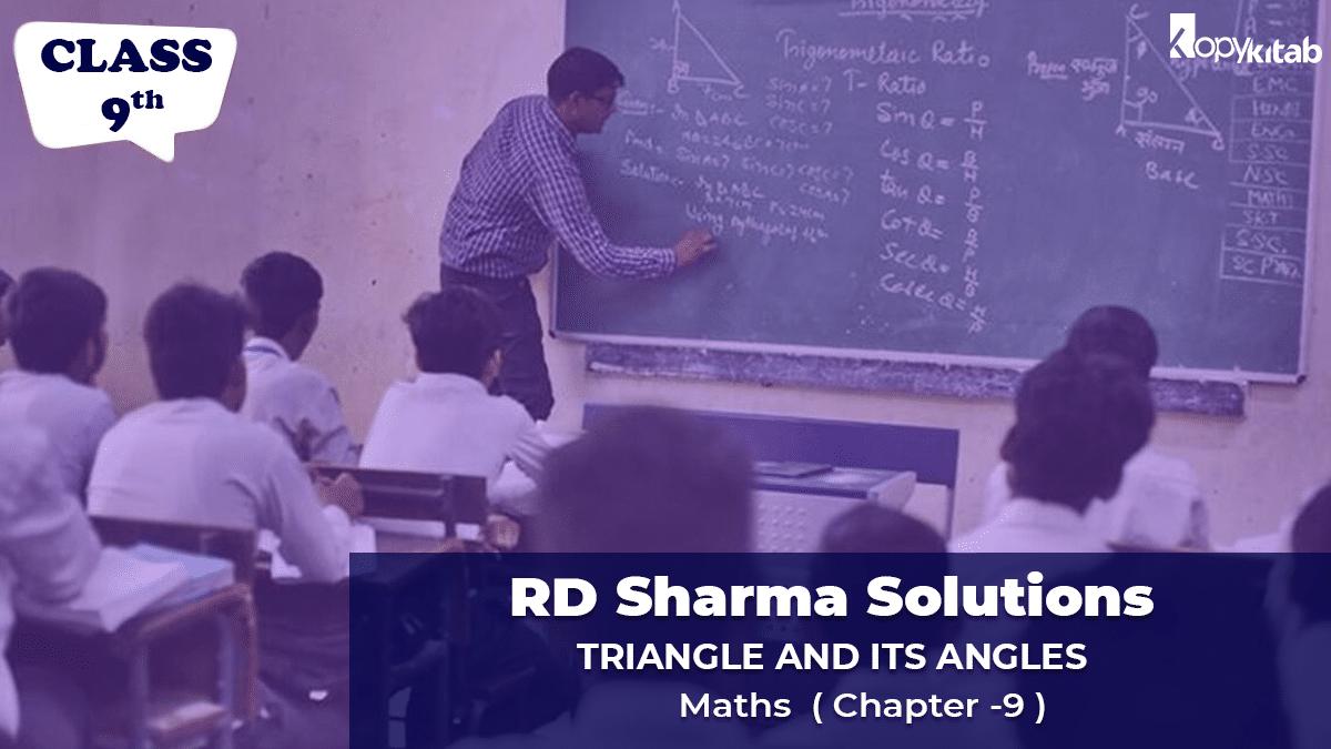 RD Sharma Solutions Class 9 Maths Chapter 9