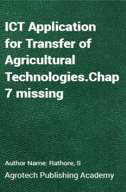 ICT Application for Transfer of Agricultural Technologies