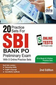 20 Practice Sets for SBI PO Preliminary Exam with 5 Online Practice Sets