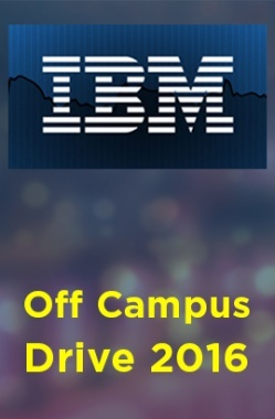 IBM Off Campus Drive 2016