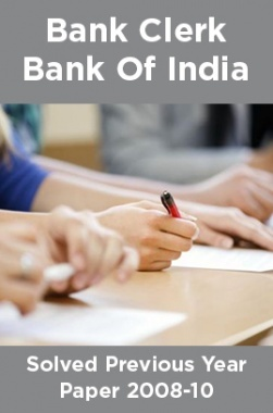 Bank Clerk Bank Of India Solved Previous Year Paper 2008-10