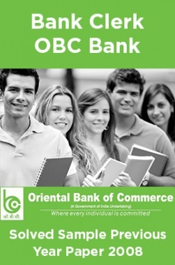 Bank Clerk OBC Bank Solved Sample Previous Year Paper 2011