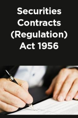 Securities Contracts (Regulation) Act 1956