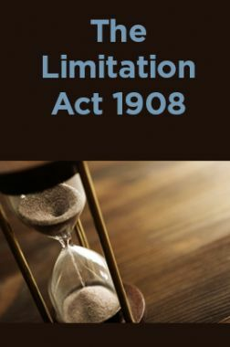 The Limitation Act 1908