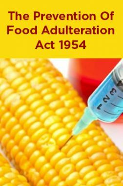 The Prevention Of Food Adulteration Act 1954