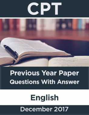 CPT December 2017 Previous Year Paper Question With Answer English