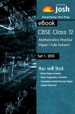 CBSE Class 12th Solved Mathematics Practice Paper 2015 (Set-I)