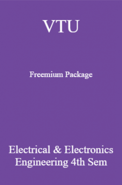 VTU Freemium Package Electrical And Electronics Engineering IV SEM