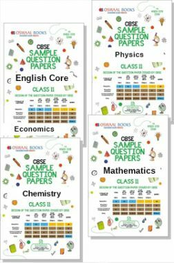 CBSE Sample Question Papers For Class 11 (Set of 4 Books) English Core, Physics, Chemistry, Maths (For March 2019 Exam)