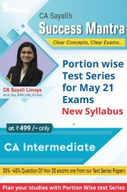 May 2021 CA Intermediate Group I - LAW Test Series 3