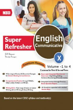 MBD Super Refresher English Communicative Class-X  Vol-I To IV CBSE