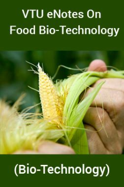 VTU eNotes On Food Bio-Technology (Bio-Technology)