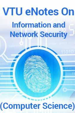 VTUeNotes OnInformation and Network Security(Computer Science)
