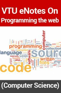 VTUeNotes OnProgramming the web(Computer Science)