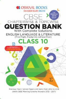 Oswaal CBSE Question Bank Chapterwise & Topicwise Class - X English Language And Literature For 2019 Exam