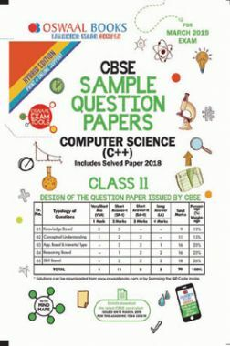 Oswaal CBSE Sample Question Papers For Class XI Computer Science C++ (Mar. 2019 Exam)