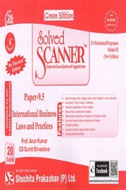 Solved Scanner CS Professional Programme Module-III Paper-9.5 International Business Laws And Practices (New Syllabus) Green Edition (Dec-2015)