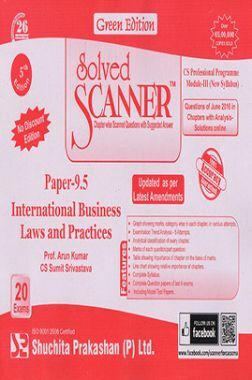 Solved Scanner CS Professional Programme Module-III Paper-9.5 International Business Laws And Practices (New Syllabus) Green Edition (Jul-2016)